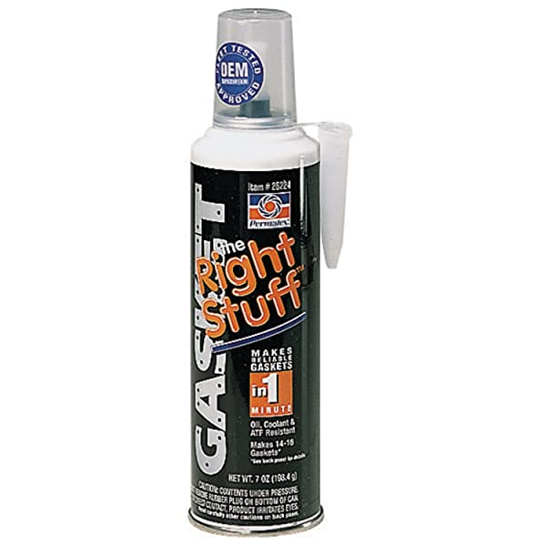 Permatex 25224 The Right Stuff Gasket Maker, 7 oz. (Color: BLACK, Tamaño: Pack of 1)