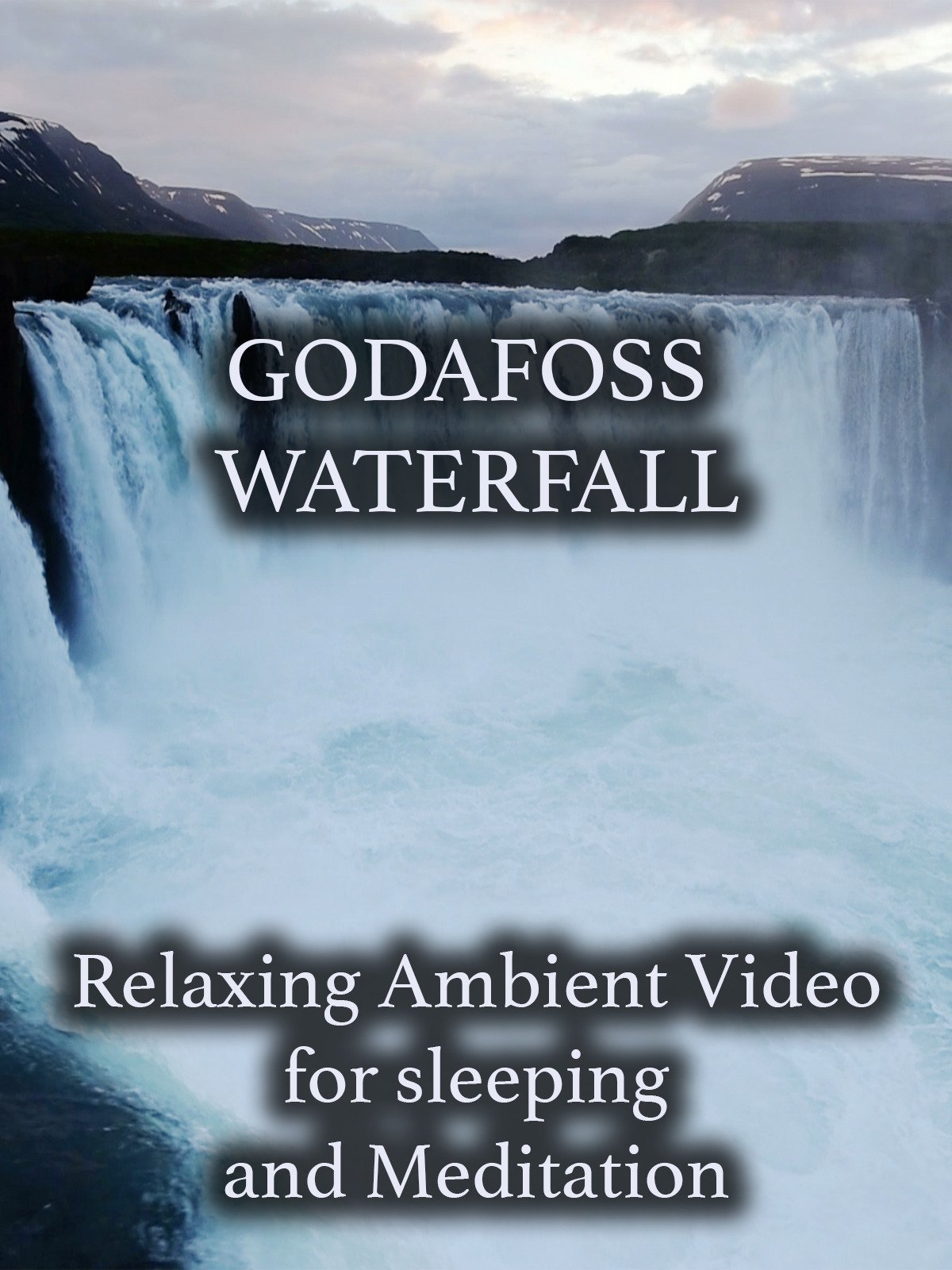 Godafoss Waterfall Relaxing Ambient Video for Sleeping and Meditation