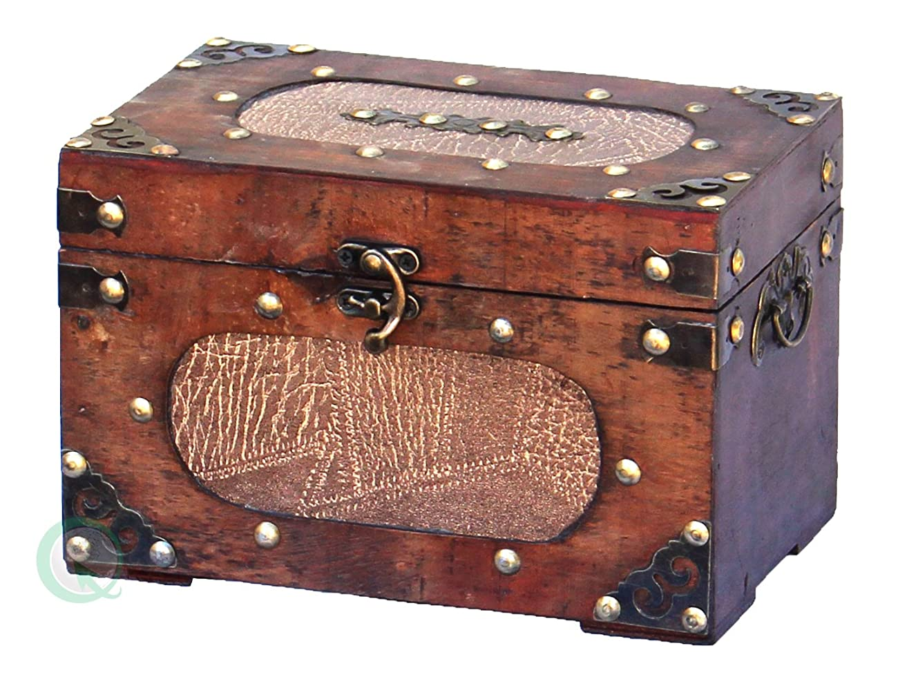 Antique wooden recipe card box 1