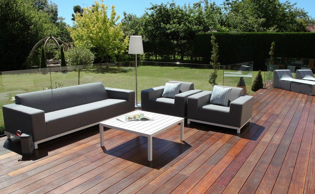 Stoff Scilly Outdoor Garten Möbel Sunbrella 3-Sitzer-Sofa Set