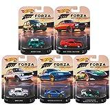 2018 Hot Wheels Retro Entertainment Forza Motorsport Series Premium Adult Collectible Diecast Cars, Set of 5