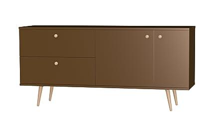 Tenzo HAZE Designer Sideboard, 75 x 160 x 43 cm, Bronze/Oak