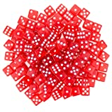 Brybelly 100 Red Dice , 16mm, Red (Color: Red, Tamaño: 16mm)
