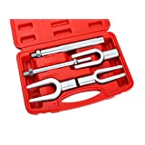 ATP 5PCS Pickle Fork Ball Joint Separator Set Tie Rod/Ball Joint Separator Kit for Separating Ball Joints Tie Rods Pitman Arms (Color: red case, Tamaño: 5pcs)