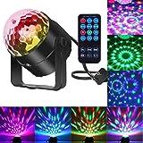 Comwinn Disco Lights Sound Activated Strobe Light Disco Ball Dj Lights Party Lights Xmas 7colors Disco light Disco Party Lights Show for Christmas Parties DJ Karaoke Wedding Outdoor with Remote (Color: Black)