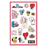 BTS Sticker Jungkook V BT21 Cute Stickers for Laptop Car Decoration Cellphone Decal (BT21) (Color: BT21)
