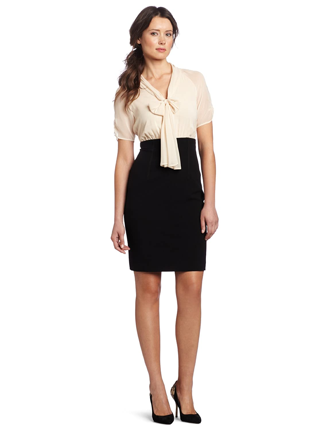 D-shopz: Anne Klein Women's Structured Sleeve Twofer Dress