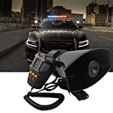 5 Tone Sound Car Motorcycle Police Siren Vehicle Horn With Mic PA Speaker System Emergency Amplifier-60W Emergency Sounds Electric Horn-Hooter/Ambulance/ Siren/Traffic Sound with Microphone System