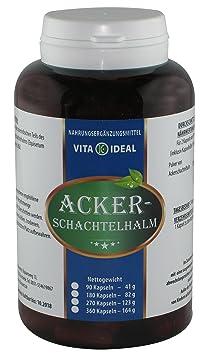 Ackerschachtelhalm, 180 Kapseln je 350 mg mit rein naturlichen Pulver, ohne Zusatzstoffe, 3-Monatskur, Knochen und Gelenkförderung