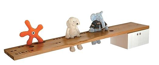 Ninetonine Toys-Scaffale e matite, in legno di quercia/bianco