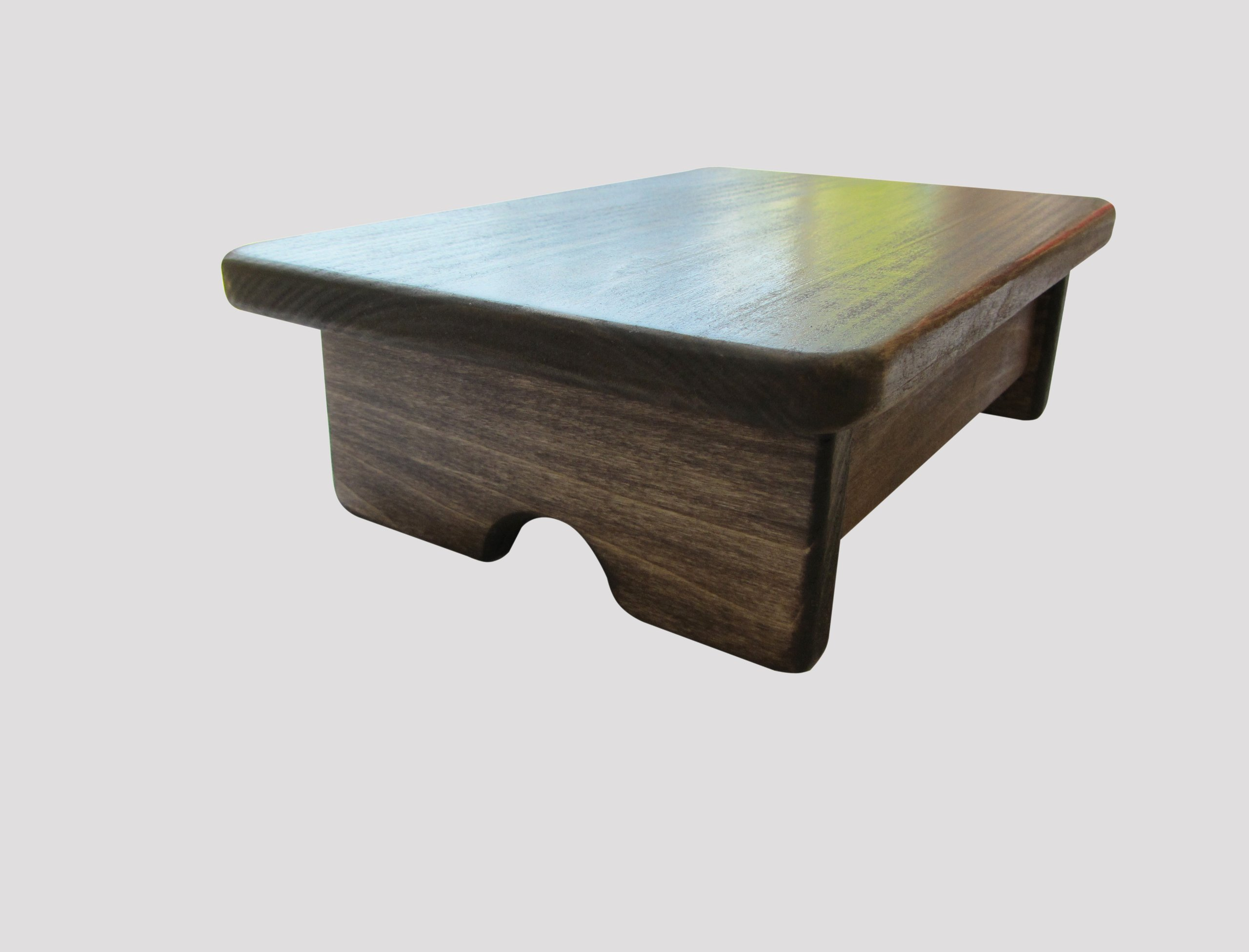 Foot stool poplar wood walnut stain made in the usa