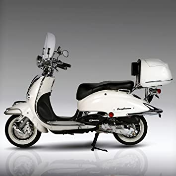 retro roller artemis 125 ccm perlwei motorroller scooter. Black Bedroom Furniture Sets. Home Design Ideas