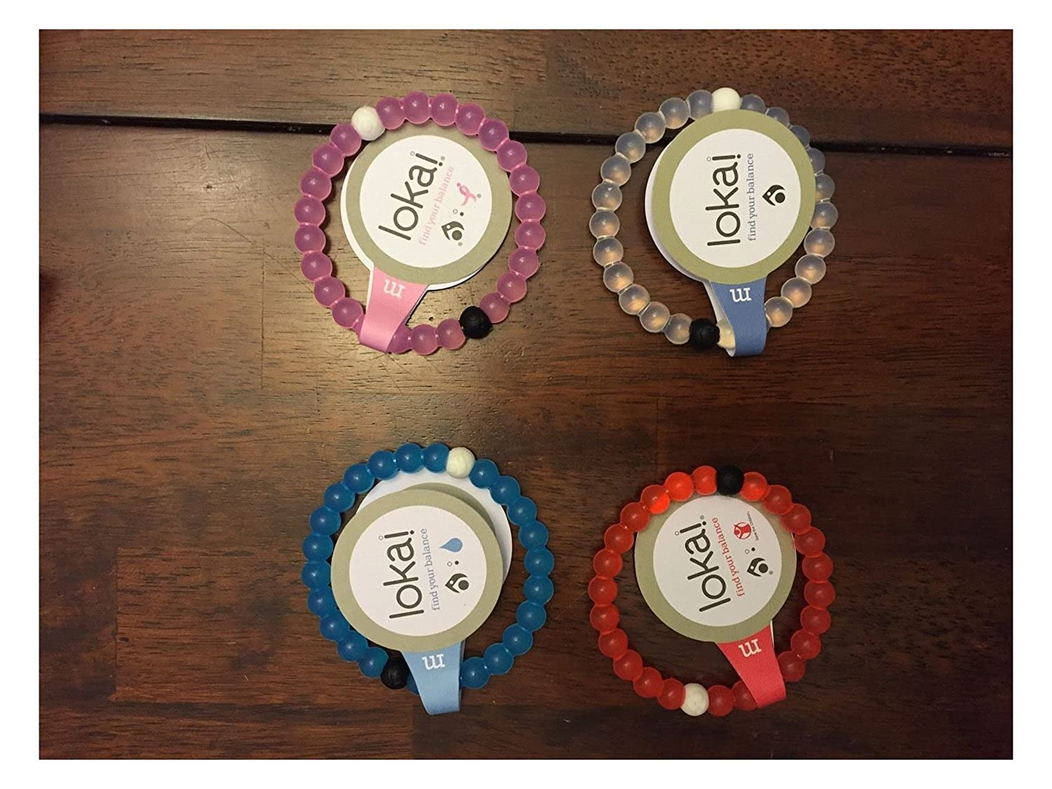Set Of 4 Lokai Bracelets--Authentic!! Medium Bracelets In Four Different Colors