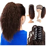 Beauty Angelbella 15'' Claw Ponytail Clip in Hair Extensions Long Yaki Curly Synthetic Hairpiece 80g with Jaw Clip (2-33#) (Color: 2-33#)