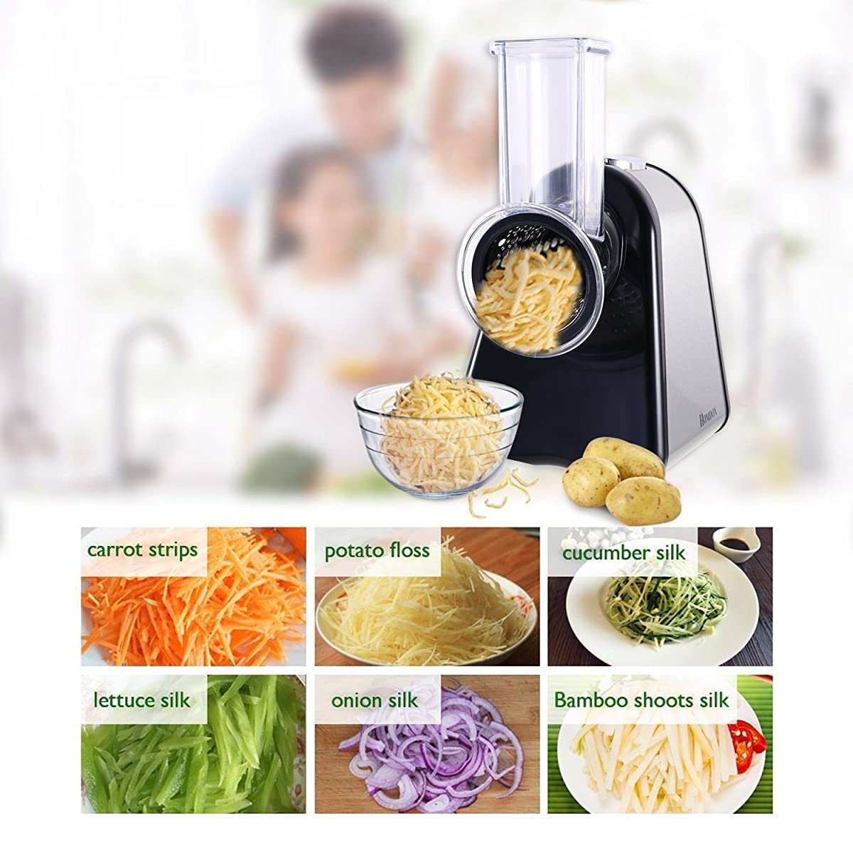 Homedox Salad Maker Professional SaladShooter Electric Slicer Shredder