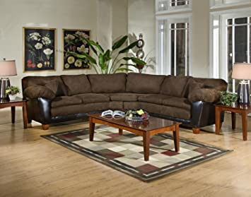 Chelsea Home Furniture James 2-Piece Sectional, Bulldozer Java/Bicast Chocolate
