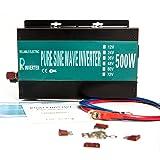 Reliable RBP-500S-LED 500w Pure Sine Wave Solar Power Inverter 24v 120v 60hz with LED Display (Black) (Tamaño: 500W24V)