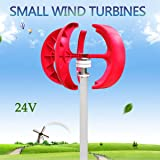 Taishi 400W Power 12V / 24V VAWT Lanterns Wind Turbine Generator Vertical Axis With Controller (24V) (Color: 24V)