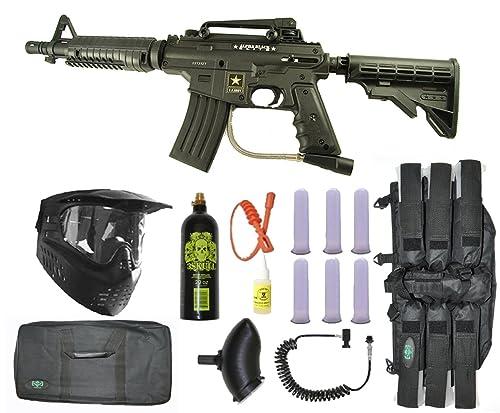 US Army Alpha Black Tactical Paintball Marker Gun Sniper Set – Black