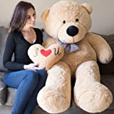 Yesbears Giant Teddy Bear 5 Feet Tan Color Ultra-Soft (Pillow Included) (Color: Tan, Tamaño: 5 Foot)