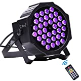 U`King Black Lights 36LEDs x 3W UV Bar by DMX IR Remote Control and Sound Activated for Party DJ Stage Lighting (Tamaño: Mini)
