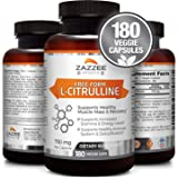Free-Form L-Citrulline Malate | 750 mg | 180 Veggie Capsules | All Natural, Vegan, and Non-GMO | Stabilized Organically | Supports Endurance, Stamina, and Energy