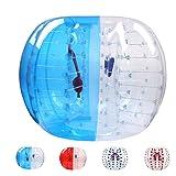Bubble Soccer Balls Dia 5' (1.5m) Human Hamster Ball, Bubble Football,Bumper Ball, Zorbing Ball, Knocker Ball, Smash Ball Stress Ball Loopy Ball Blue and Clear (Color: Blue and Clear, Tamaño: 1.5 Diameter)
