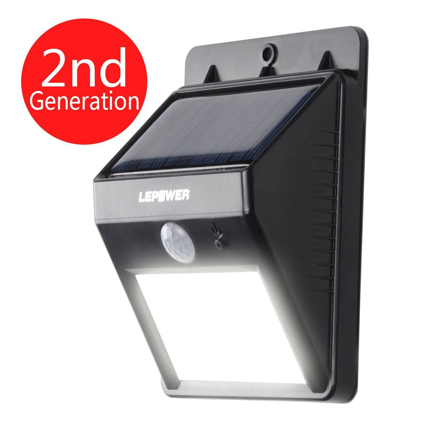 lepower bright led wireless solar powered motion sensor. Black Bedroom Furniture Sets. Home Design Ideas