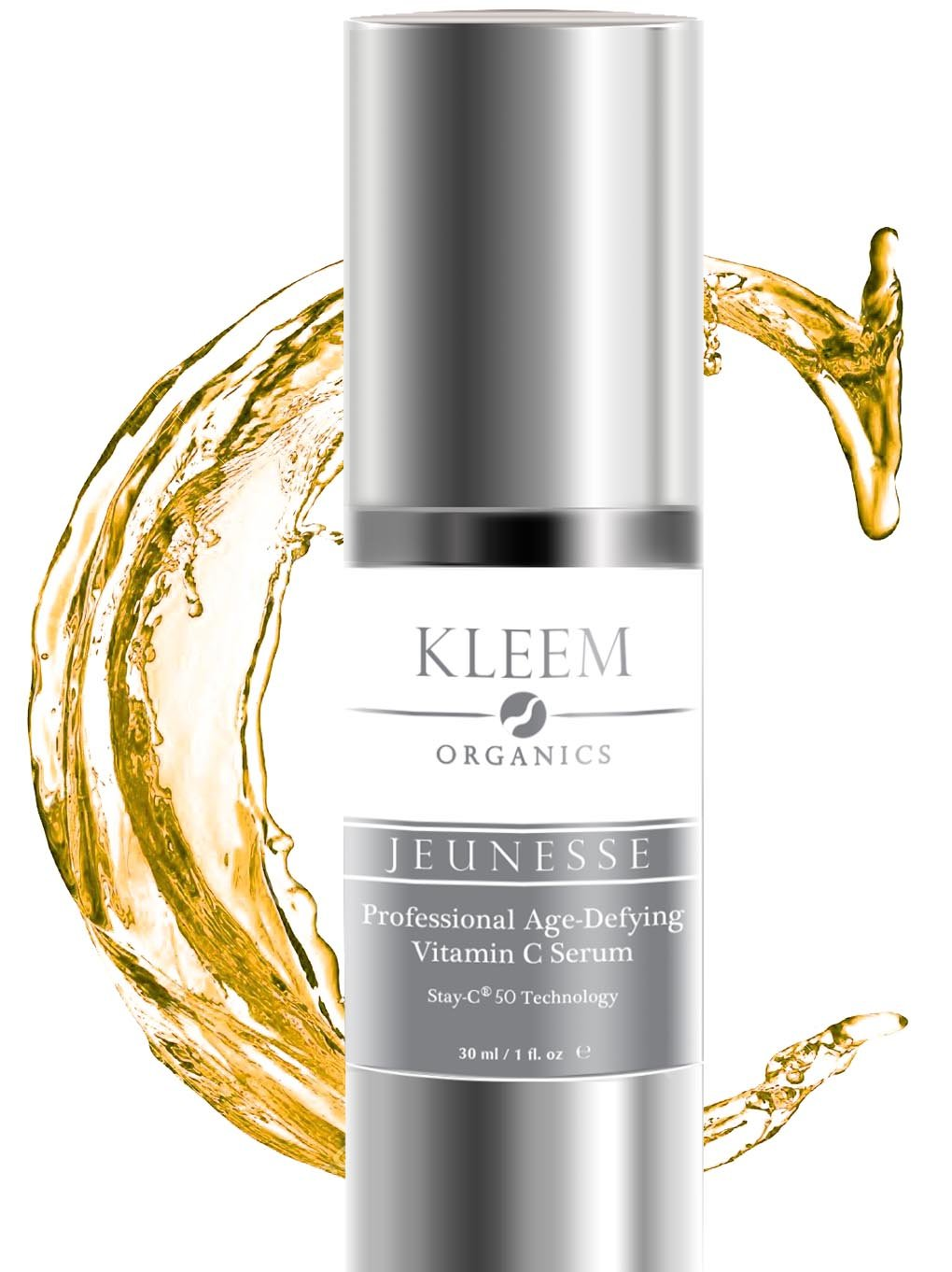 Kleem Organics® 20% VITAMIN C & E SERUM for Face with 10% Hyaluronic Acid, 1 Oz. The Most PROFESSIONAL Anti Aging & Anti-Wrinkle Treatment, Skin Tightening and Dark Spot Removal. Doctor Trusted