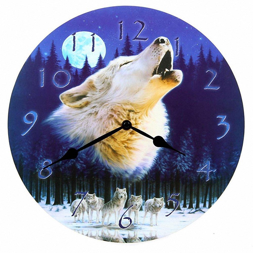 Bilderuhr, Heulender Wolf günstig kaufen