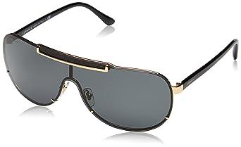 7f671ee1ea4055 Versace - Lunette de soleil VE 2140 Rock Icons Greca Aviator - Homme,  100287, Gold, Gray
