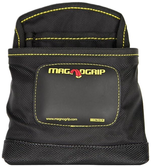 MagnoGrip 002-405 3-Pocket Magnetic Nail Pouch, Black (Color: Black, Tamaño: 1-Pack)