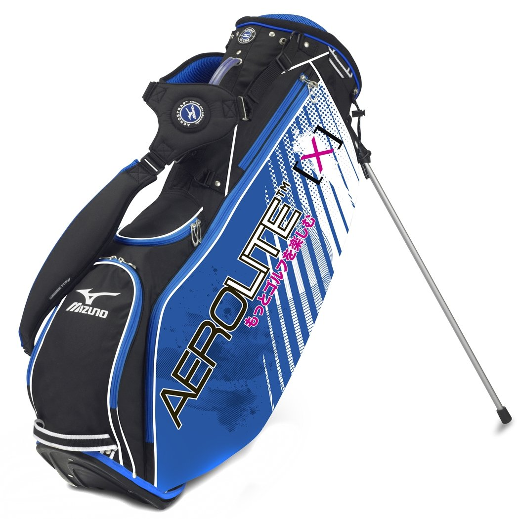 Mizuno AeroLite X Golf Stand Bag - White/Royal mizuno golf