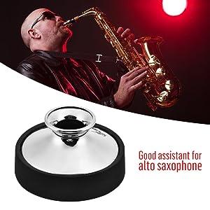 Alto Saxophone Mute Sax Dampener Silencer Dilwe Plastic Alto Saxophone Mute