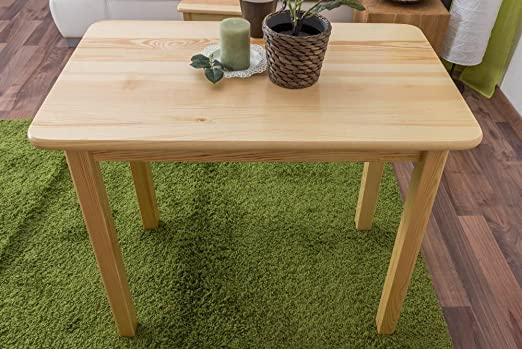 Tisch 90x55 cm Kiefer massiv, Farbe: Natur