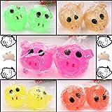 5CM Anti-stress Decompression Splat Ball Vent Toy Smash Various Styles Pig Toys ,GBell (Random)