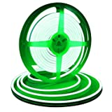 Lamomo Dimmable Led Strip Lights Green, 16.4ft/5m IP68 Waterproof Light Strip Kit, Silicone 12V Flexible LED Rope with 2835 LEDs, UL Listed Power Supply for Indoors/Outdoors Decoration/DIY (Color: Green)