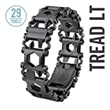 LEATHERMAN - Tread LT Bracelet, The Smaller Travel Friendly Wearable Multitool, Black (Renewed) (Color: Black)