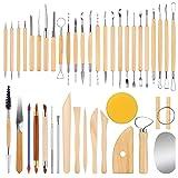 ETEPON Pottery Tools Clay Sculpting Tools Set of 42PCS(ET026) (Tamaño: 42PCs)