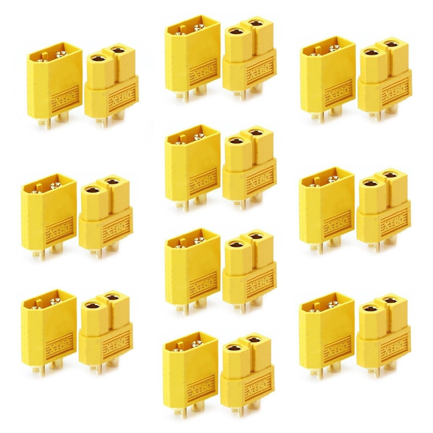 LHI 10 Pairs XT-60 XT60 Male Female Bullet Connectors Plugs For RC Lipo Battery