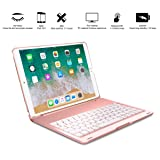 IPad Pro 10.5 Case, ARIMOOZ Multi-Functional Smart Auto Wake & Sleep keyboard ,Slim Shell Protective Cover with Wireless Bluetooth Keyboard for apple Pro 10.5 (A1701/A1709) (Rose Gold)