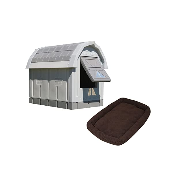ASL Solutions Dog Palace for Med to Large Dogs - Gray (Color: grey)