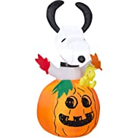 Gemmy Airblown Inflatable 5-ft X 2.5-ft Snoopy In Pumpkin
