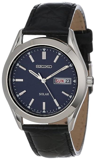 Seiko Men's SNE049 Solar Strap Blue Dial Watch-奢品汇 | 海淘手表 | 腕表资讯