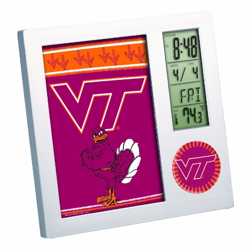 NCAA Virginia Tech Hokies Digital Desk Clock Picture Frame