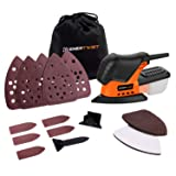 Enertwist Mouse Detail Sander, 13000OPM Lightweight Compact Sander with Dust Box for Tight Corner and Small Hard-to-reach Areas Sanding Polishing in Home Decoration, DIY, ET-DS-100 (Color: Detail sander, Tamaño: Small)