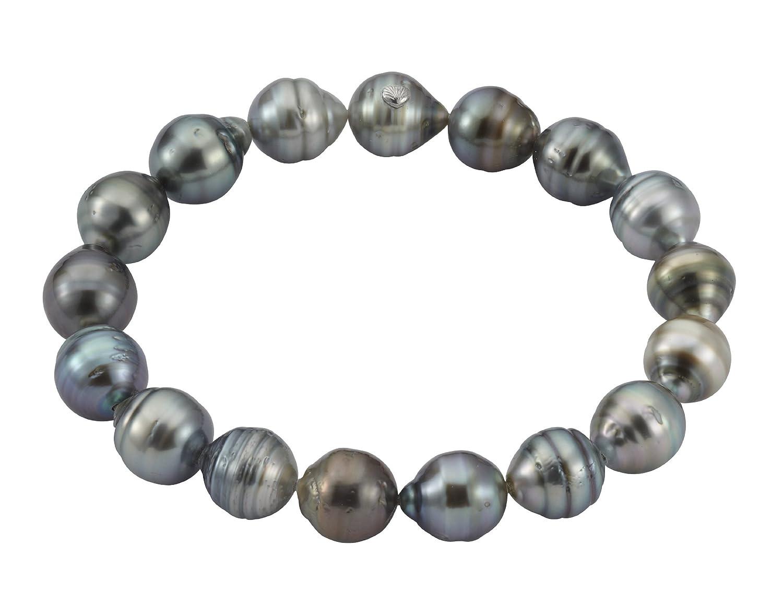 Adriana Damen-Armband Tahiti Zuchtperlen elastisch 925 Sterling Silber Tahiti Modern PR4-5 günstig kaufen