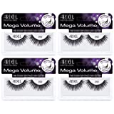 Ardell False Eyelashes Mega Volume Lash 252 Black (4 Pack) (Color: Black, Tamaño: Mega Volume Lash 252)