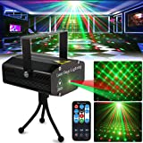 Party Light DJ Disco Lights TONGK Stage Lighting Projector Sound Activated Flash Strobe Light with Remote Control for Parties Home Show Bar Club Birthday KTV DJ Pub Karaoke Christmas Holiday (Color: black)
