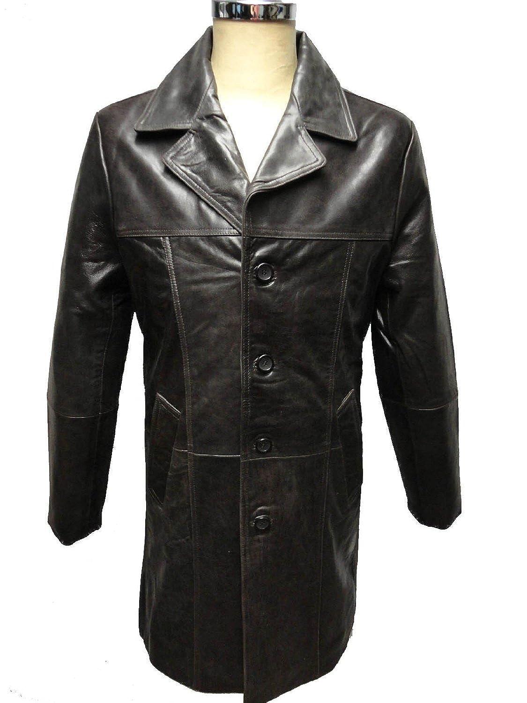 """Herren Lederjacke Mantel """"SAFARI"""" von RICANO aus Neuseeland Echtleder (braun) online kaufen"""